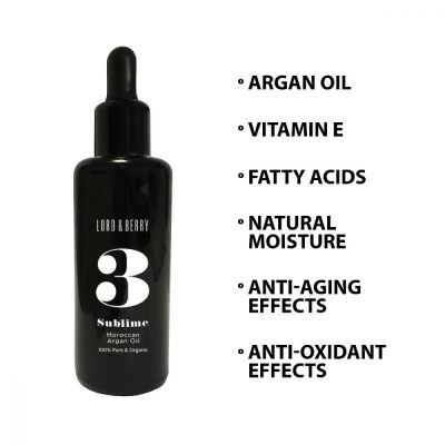 Lord & Berry 3 Sublime Moroccan Argan Oil 100%